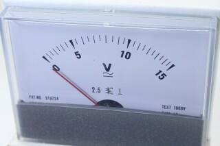 Volt VU Meter 0 to 15 V - New Old Stock KAY B-13-13890-bv 3