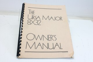 8x32 Owners Manual F-10764-z
