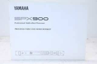 Professional Multi-Effect Processor SPX900 Program Table And Mode Booklet Manual EV-F-4839 NEW