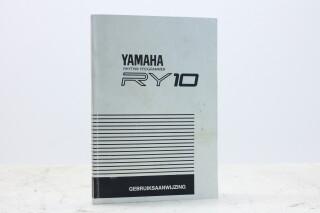 RY10 Rhythm Programmer Manual Dutch EV-F-5338 NEW